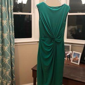 Emerald Green Lauren knot dress